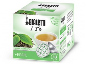 The Original Herbal teas and capsules for the system Bialetti Mokespresso Bialetti Te Verde