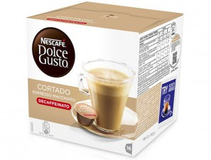Capsule Original Drinks for the system Dolce Gusto Nescafè Cortado Decaffeinato