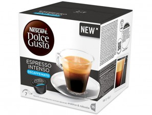Original Coffee Capsules for the system Dolce Gusto Nescafè Espresso Intenso Decaffeinato