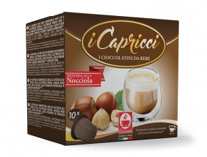 Capsule Compatible Drinks for the system Nespresso Caffè Bonini Capricci Hazelnut